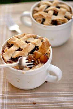 Dang, I'm on a roll. Forever alone roasted apple pie in a mug