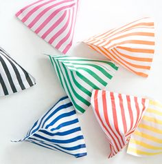 """stripey bags"""