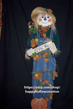 72 Scarecrow Wood Pattern Packet Decoration by happyhollowcreation, $6.98