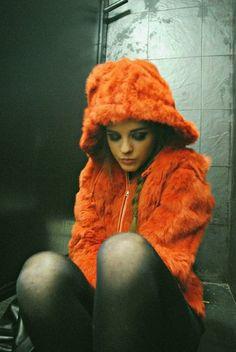 orange fur coat #SephoraColorWash