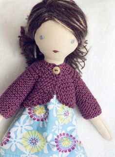 Lulu doll by Tangled Things - such a beautiful doll. #thevanillabeanblog