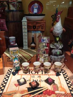 Country Window Display at The Old Farmer's Almanac General Store.