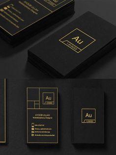 Sleek Black Business Card