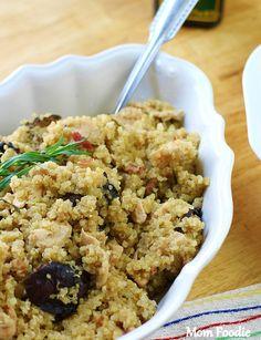 Creamy Chicken Quinoa with Bacon & Mushrooms
