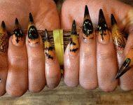nails by Sophie Gallaway #nails #halloiween #nailart