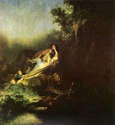 """The rape of proserpina"" Rembrandt. Isabella Rodríguez Rochin."