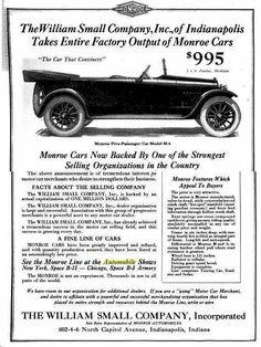 1918 Monroe Automobile Advertisement