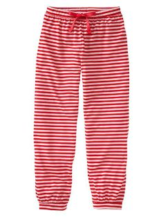 stripey pj bottoms (coordinating solid red tops also available)
