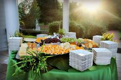 Swan's Landing Catering Fruit and Cheese appetizers at My Old Kentucky Home