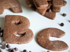 Chocolate-Cinnamon Letter Cookies (www.bettycrocker.com).... pi day cookies, maybe???