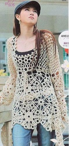 love this crocheted sweater