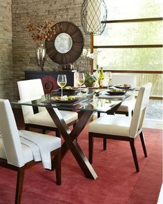 My kitchen table - Pier 1 Bennet Dining Table and Bal Harbor Chairs