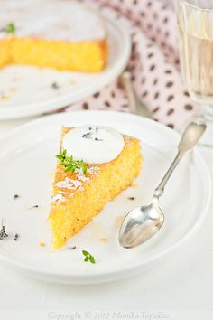 Polenta Olive Oil Cake With Lemon And Lavender