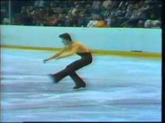 Robin Cousins, figure skating champion at the 1980 Winter Olympics. I got up in the small hours to watch him skate.