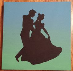 Disney Silhouette Painting  So This Is Love by ListfulLife on Etsy, $15.00