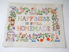 Vintage Embroidery Sampler
