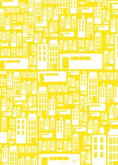 Townhouses wrapping paper - Pleased to Meet (Berlin designers Daniela Könn and Marcel Hornung)