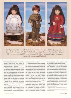 Maggie Iacono article in Oct. 1998 Doll Reader magazine, p. 63.