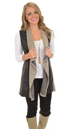 Add some edge to any look with this city chic vest! $52 at shopbluedoor.com