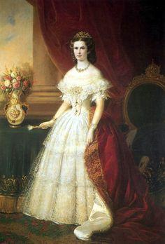"Portraits of Empress Elisabeth Amalie Eugenie ""Sissi"" (1837-assassinated 1898) Bavaria, wife of Emperor Franz Joseph I Austria"