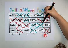 the game, roll, word famili, sight word games, family games