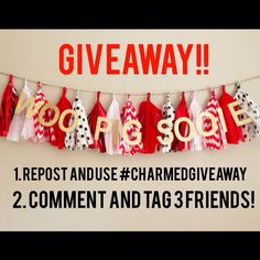 Instagiveaway! Follow @charminglykristindesigns to win this team spirit tailgate football homecoming party tissue tassel garland!