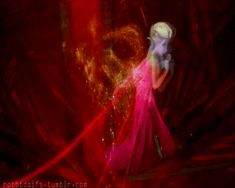 Frozen~elsa with fire powers