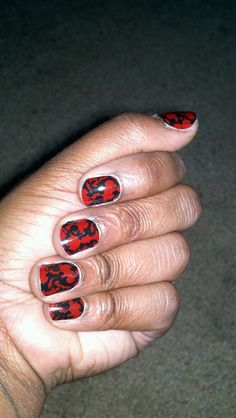 Red & Black Lace BUY 3, GET 1 FREE! One sheet is 15.00 and has enough sheilds to do 2 or 3 sets of nails. They last 2-3 weeks on fingers and 4-6 on toes!