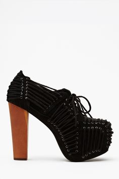 Laced Platform in Black