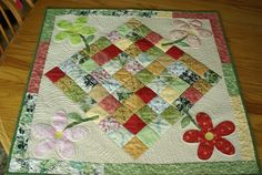 flower tabl, sew, spring flower, tabl runner, table toppers, tabl topper