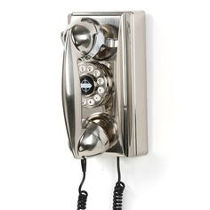 Add a retro vibe to your kitchen with a brushed chrome wall phone. | $59.95