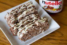 Nutella Rice Krispie Bars