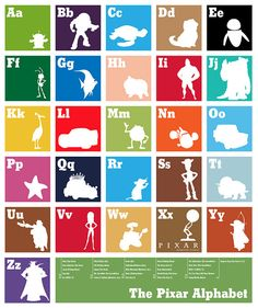 The Pixar Alphabet