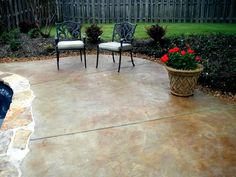 stained concrete slab