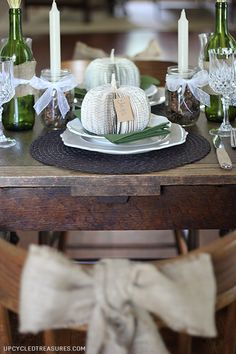 5 Fall Tablescape Ideas - Upcycled Treasures