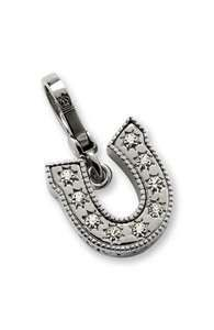 rhineston horsesho, coutur charm, charm bracelets, juici coutur, charms, juicy couture, horseshoes, horsesho charm, coutur rhineston