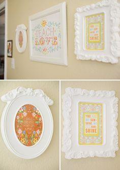 frame, happy colors, playroom, download print, cozi nurseri, kati daisi, happi color, kid
