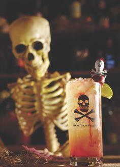 Cherry Transfusion Cocktail - Halloween Recipe >> #WorldMarket Halloween #Recipes #Cocktails (the glass)