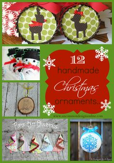12 handmade ornaments! What a great line up!