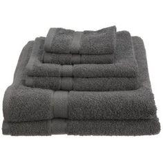#3: Pinzon Basics/Pike Street 100-Percent Egyptian Cotton 725-Gram 6-Piece Towel Set, Gray
