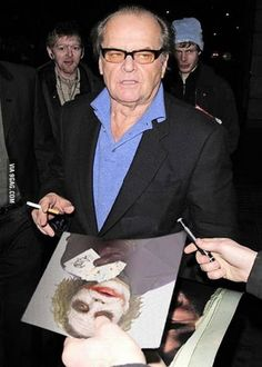 Jack Nicholson is not impressed.