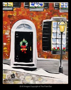 Beacon Hill Christmas Painting - Jackie Schon, The Paint Bar