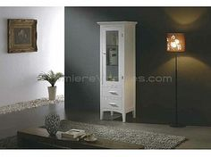 Linen Cabinets - White Oak Linen Cabinet with Drawers