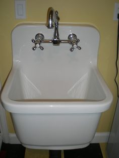 Traditional Laundry Room Sink
