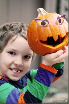 Carving pumpkins with kids!
