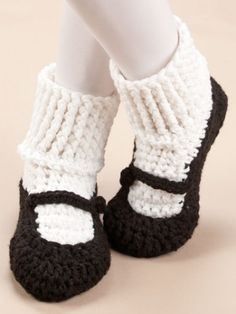 Free Crochet Slipper Sock Patterns | Big Foot Boutique Slippers Crochet Patterns Boots Mary Janes Sneakers ...