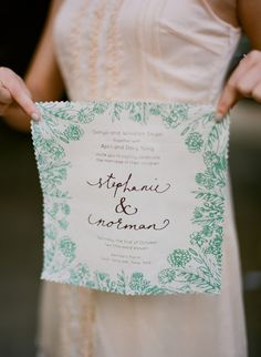 handkerchief wedding invitations // photo by Kate Murphy