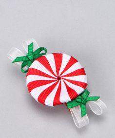 adorable Christmas hair bow