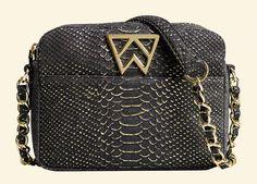 The new #KellyWynne Mingle Mingle Mini in Black Gold Cobra -- preorder yours today at <<<www.kellywynne.com>>> #handbag #fashion