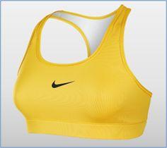 yellow nike sports bra